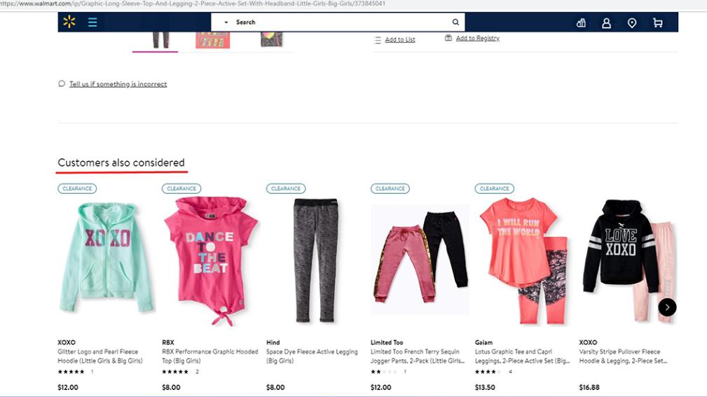 Walmart Cross selling