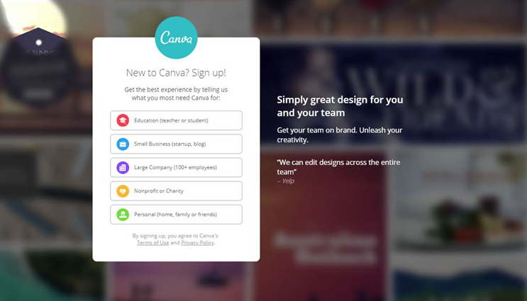 Canva segmentation to provide personalisation customer experience