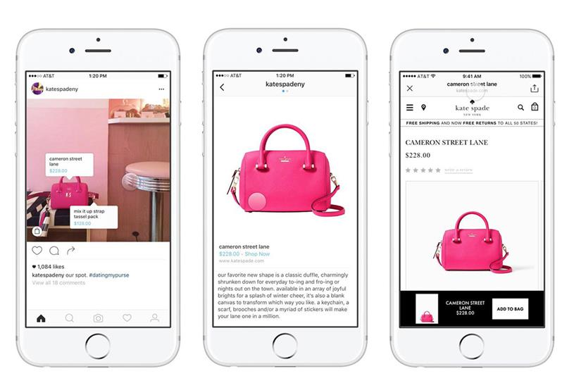 Instagram social commerce allows buyers to see the brand and the cost of the items from the platform itself.
