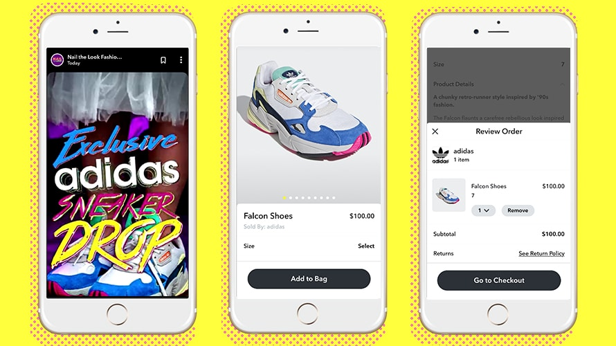 Adidas Social Commerce Offer on Snapchat