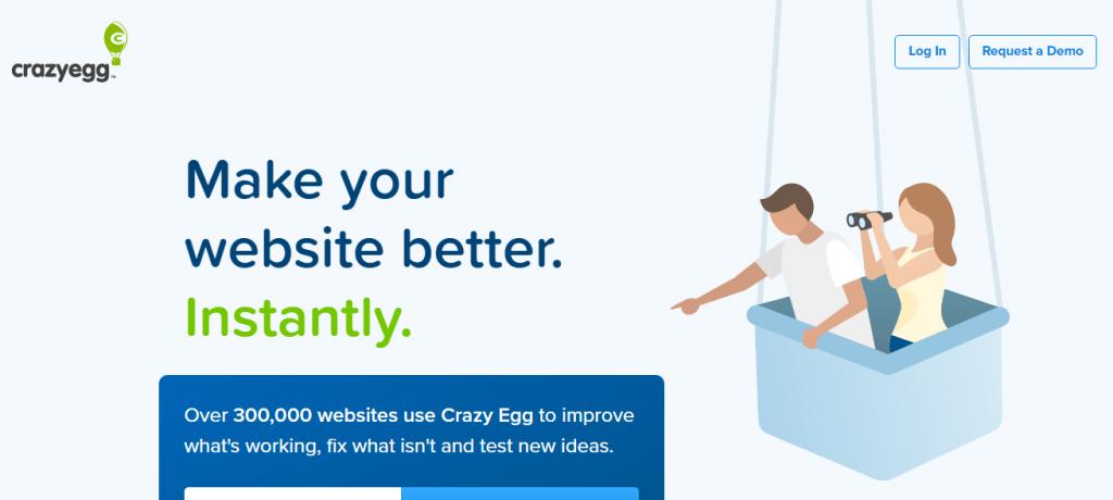 B2B marketing funnel example by Crazyegg