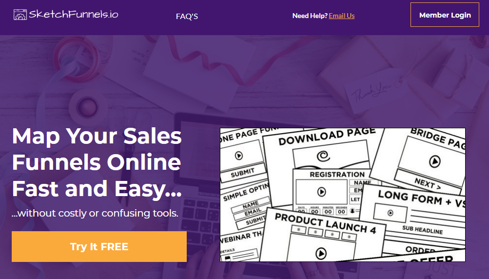Sketchfunnel.io is another great marketing funnel automation tool