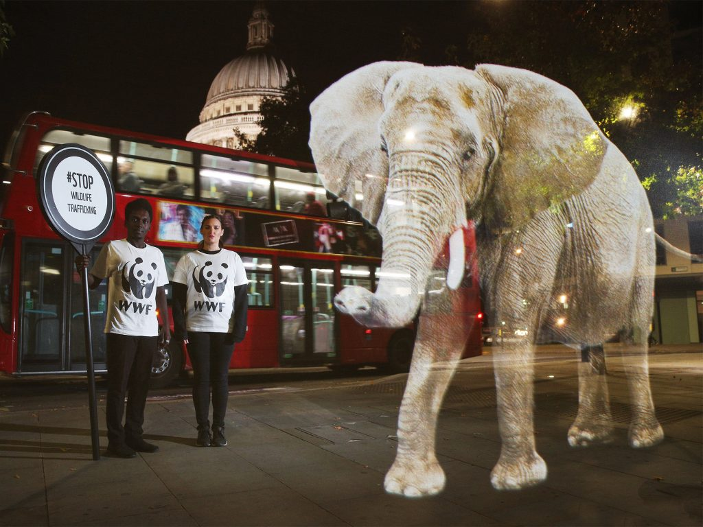 One of the best ecommerce marketing ideas are experiential marketing just like how WWF launched the elephant campaign