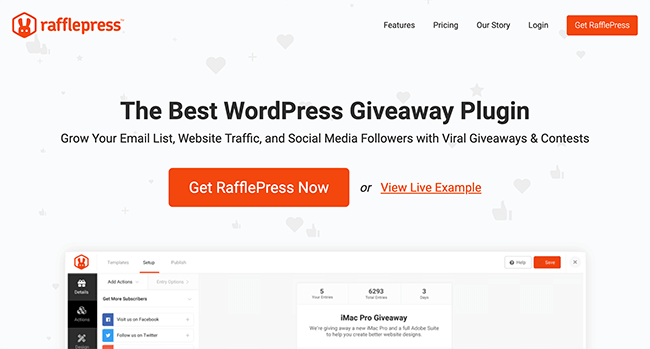 Rafflepress is one of the best Ecommerce marketing tools for WordPress