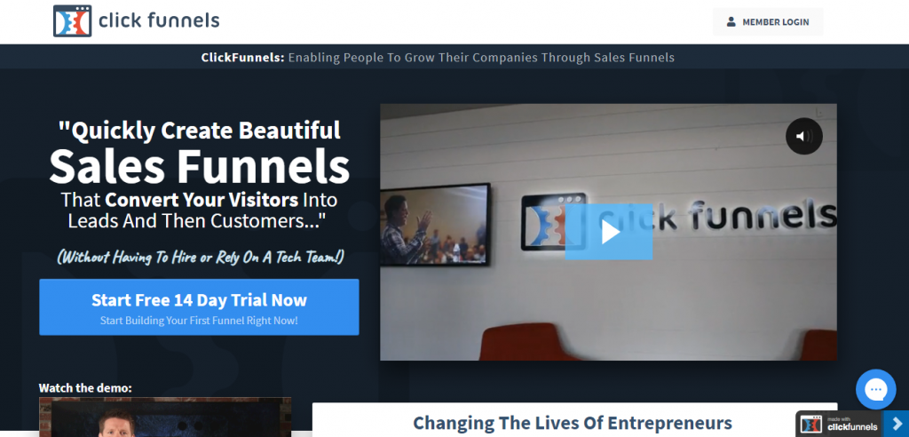 You can use Clickfunnels to build your marketing funnels conversion