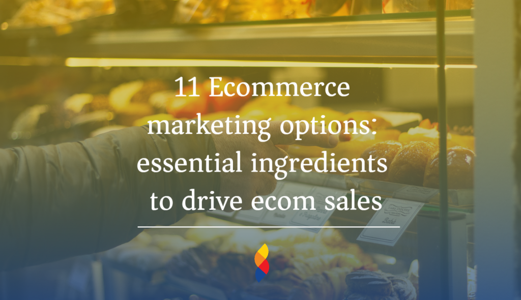 11 Ecommerce marketing options: essential ingredients to drive ecom sales