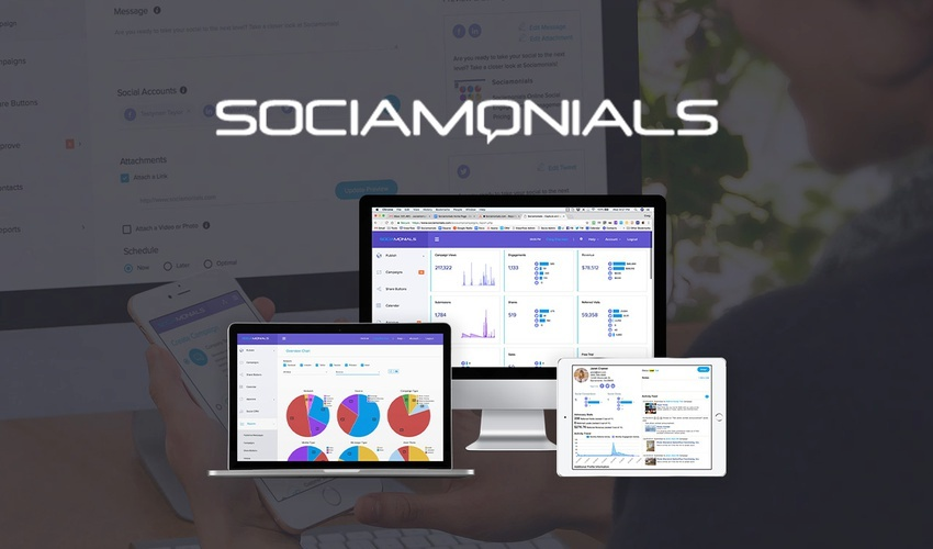 Tools like Socialmonials can help with social media marketing funnel